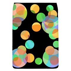 Orange Circles Flap Covers (l)  by Valentinaart