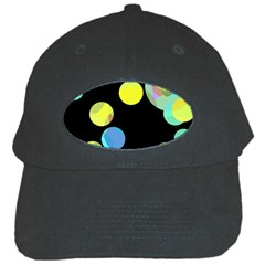 Yellow Circles Black Cap by Valentinaart