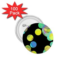 Yellow Circles 1 75  Buttons (100 Pack)  by Valentinaart