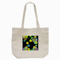 Yellow Circles Tote Bag (cream) by Valentinaart