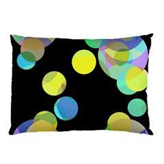 Yellow Circles Pillow Case (two Sides) by Valentinaart