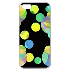 Yellow Circles Apple Seamless Iphone 5 Case (clear) by Valentinaart
