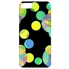 Yellow Circles Apple Iphone 5 Classic Hardshell Case by Valentinaart