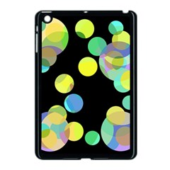 Yellow Circles Apple Ipad Mini Case (black) by Valentinaart