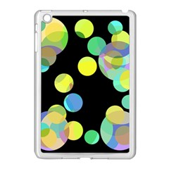 Yellow Circles Apple Ipad Mini Case (white) by Valentinaart