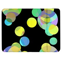 Yellow Circles Samsung Galaxy Tab 7  P1000 Flip Case by Valentinaart
