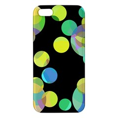 Yellow Circles Iphone 5s/ Se Premium Hardshell Case by Valentinaart