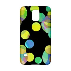 Yellow Circles Samsung Galaxy S5 Hardshell Case  by Valentinaart