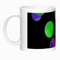 Green Decorative Circles Night Luminous Mugs by Valentinaart