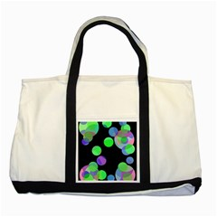 Green Decorative Circles Two Tone Tote Bag by Valentinaart