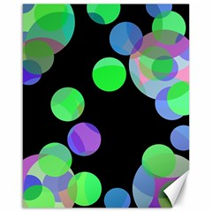 Green Decorative Circles Canvas 16  X 20   by Valentinaart