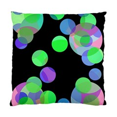 Green Decorative Circles Standard Cushion Case (two Sides) by Valentinaart