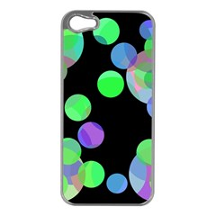 Green Decorative Circles Apple Iphone 5 Case (silver) by Valentinaart