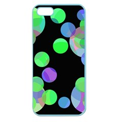 Green Decorative Circles Apple Seamless Iphone 5 Case (color) by Valentinaart