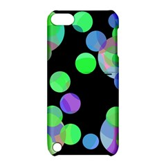 Green Decorative Circles Apple Ipod Touch 5 Hardshell Case With Stand by Valentinaart