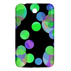 Green Decorative Circles Samsung Galaxy Tab 3 (7 ) P3200 Hardshell Case  by Valentinaart