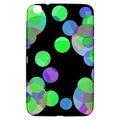Green Decorative Circles Samsung Galaxy Tab 3 (8 ) T3100 Hardshell Case  by Valentinaart