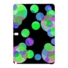 Green Decorative Circles Samsung Galaxy Tab Pro 10 1 Hardshell Case by Valentinaart