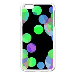 Green Decorative Circles Apple Iphone 6 Plus/6s Plus Enamel White Case by Valentinaart