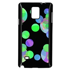 Green Decorative Circles Samsung Galaxy Note 4 Case (black) by Valentinaart