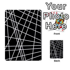 Black And White Simple Design Multi Purpose Cards (rectangle)  by Valentinaart