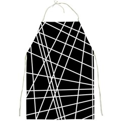 Black And White Simple Design Full Print Aprons by Valentinaart