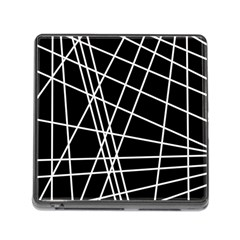 Black And White Simple Design Memory Card Reader (square)