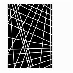 Black And White Simple Design Large Garden Flag (two Sides) by Valentinaart