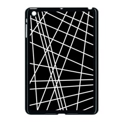 Black And White Simple Design Apple Ipad Mini Case (black) by Valentinaart
