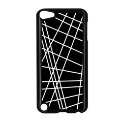 Black And White Simple Design Apple Ipod Touch 5 Case (black) by Valentinaart