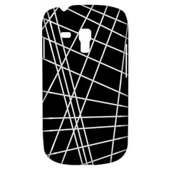 Black And White Simple Design Samsung Galaxy S3 Mini I8190 Hardshell Case by Valentinaart