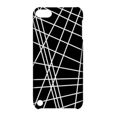 Black And White Simple Design Apple Ipod Touch 5 Hardshell Case With Stand by Valentinaart