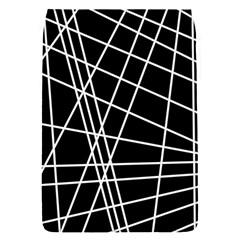 Black And White Simple Design Flap Covers (s)  by Valentinaart