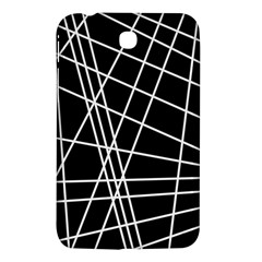 Black And White Simple Design Samsung Galaxy Tab 3 (7 ) P3200 Hardshell Case  by Valentinaart