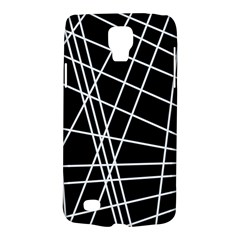 Black And White Simple Design Galaxy S4 Active by Valentinaart
