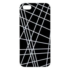Black And White Simple Design Iphone 5s/ Se Premium Hardshell Case by Valentinaart