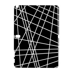 Black And White Simple Design Samsung Galaxy Note 10 1 (p600) Hardshell Case by Valentinaart