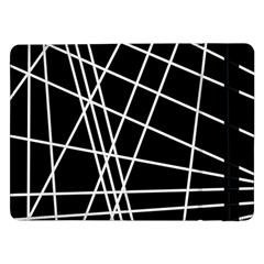 Black And White Simple Design Samsung Galaxy Tab Pro 12 2  Flip Case by Valentinaart
