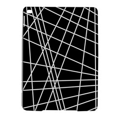 Black And White Simple Design Ipad Air 2 Hardshell Cases by Valentinaart