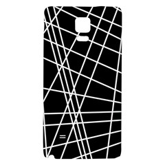 Black And White Simple Design Galaxy Note 4 Back Case by Valentinaart