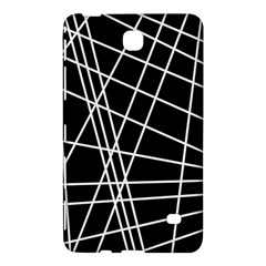 Black And White Simple Design Samsung Galaxy Tab 4 (8 ) Hardshell Case  by Valentinaart