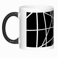 Black And White Elegant Lines Morph Mugs by Valentinaart