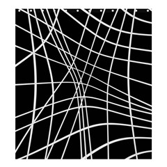 Black And White Elegant Lines Shower Curtain 66  X 72  (large)  by Valentinaart