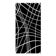 Black And White Elegant Lines Shower Curtain 36  X 72  (stall)  by Valentinaart