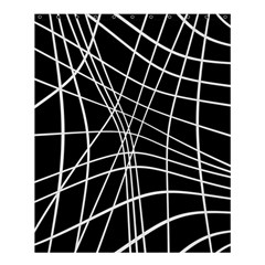 Black And White Elegant Lines Shower Curtain 60  X 72  (medium)  by Valentinaart