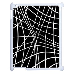 Black And White Elegant Lines Apple Ipad 2 Case (white) by Valentinaart