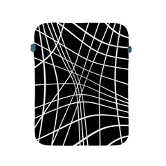 Black And White Elegant Lines Apple Ipad 2/3/4 Protective Soft Cases by Valentinaart