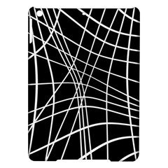 Black And White Elegant Lines Ipad Air Hardshell Cases by Valentinaart