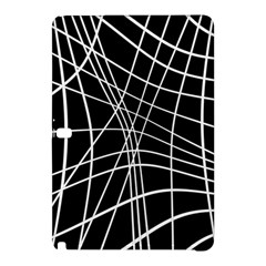 Black And White Elegant Lines Samsung Galaxy Tab Pro 12 2 Hardshell Case by Valentinaart