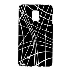 Black And White Elegant Lines Galaxy Note Edge by Valentinaart
